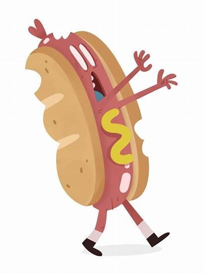 Dog Zombie Character Cartoon Clip Steak York