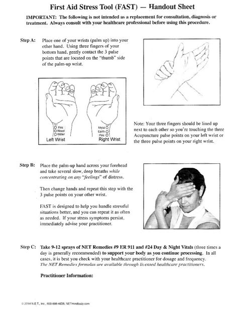 First Aid Stress Tool – FAST RELIEF! – Dr. Mary Lou Rane