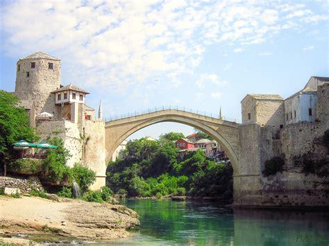 Mostar, Old bridge, Stari Most, Bosnia and Herzegovina ...