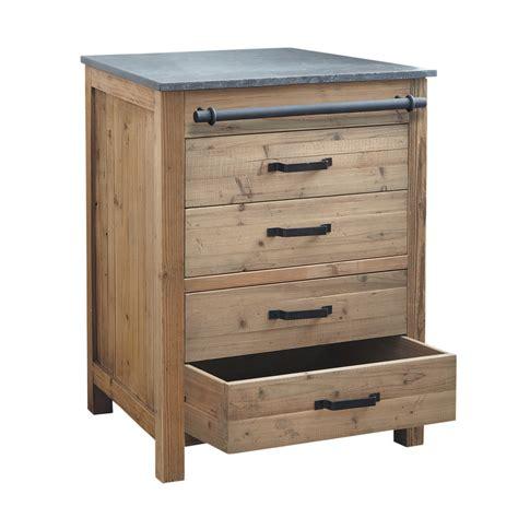meuble bas cuisine 100 cm meuble bas de cuisine en bois recyclé l 70 cm pagnol