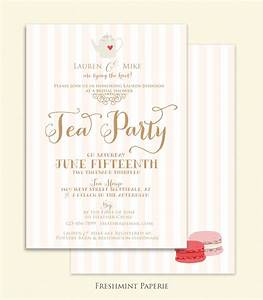 bridal shower Invitation tea party invitation printable