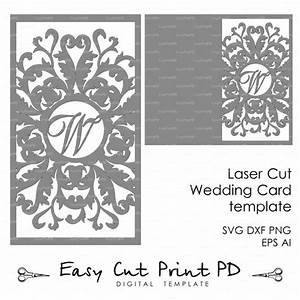 wedding invitation card template flourish lace With laser cut wedding invitations file