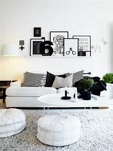 Deco Noir Et Blanc : design chic ou un salon noir et blanc unique design feria ~ Melissatoandfro.com Idées de Décoration