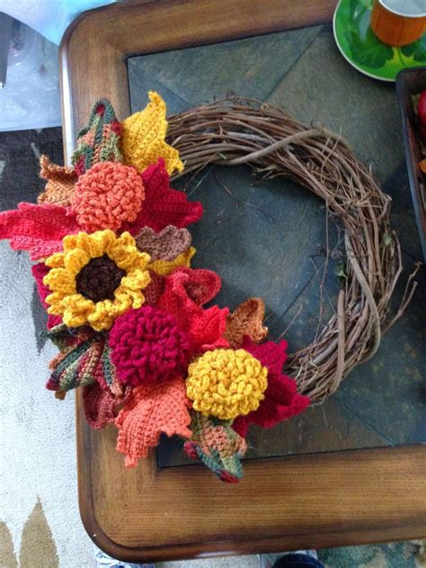 images  crocheted wreaths  pinterest yarn