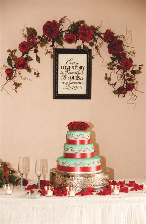 red  turquoise wedding inspiration  pink bride