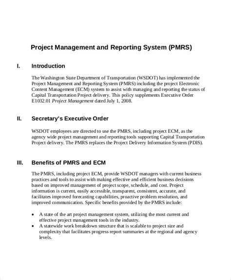 sample project management reports word apple pages