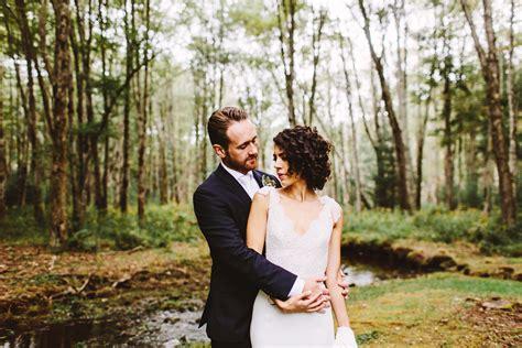 Caitlyn And Mark . A Rainy Backyard Wedding In Upstate New