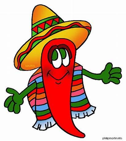 Chili Clip Pepper Clipart Mexican Cartoon Chile