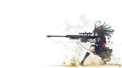 anime girl  gun hd wallpaper  girl