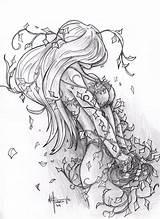 Poison Ivy Coloring Deviantart sketch template