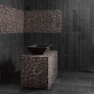 mosaique marbre rubbysaphir rouge bordeaux indoor by capri With salle de bain mosaique noire