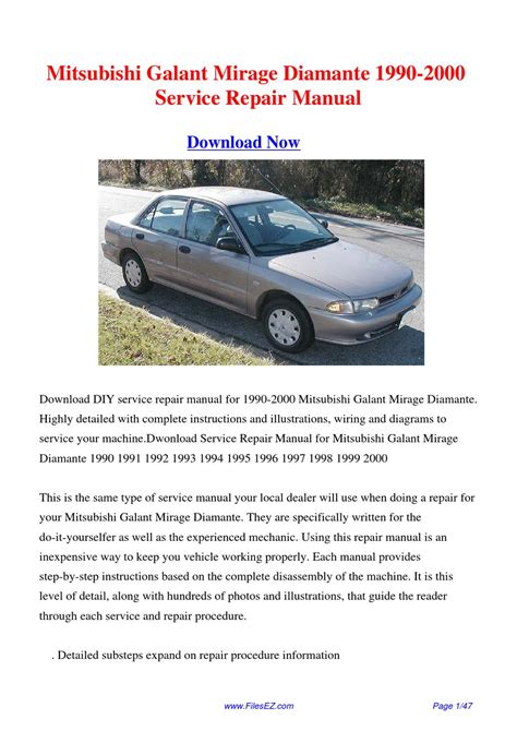 free service manuals online 1990 mitsubishi mirage head up display 1990 2000 mitsubishi galant mirage diamante factory repair manual by yang rong issuu