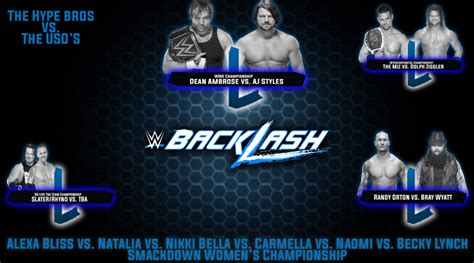 Check spelling or type a new query. WWE Backlash 2016 Match Card by SAnitY-is-NXT on DeviantArt