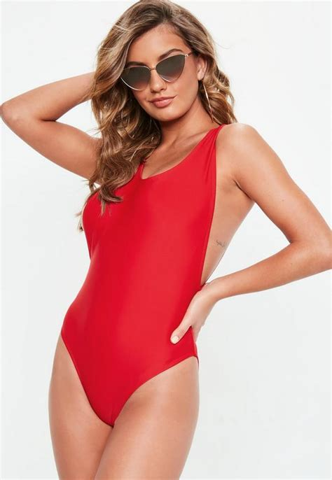 legs swimsuit red high leg swimsuit missguided
