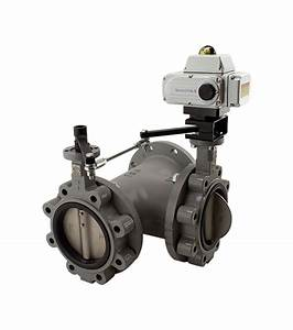 3 Way Butterfly Valve With Series 1000-x 2 Position Electric Actuator  200 Psi
