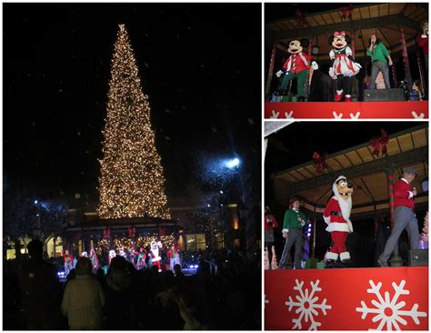 tree lighting ceremony at fashion island with mickey