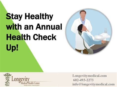 Stay Healthy With An Annual Health Check Up