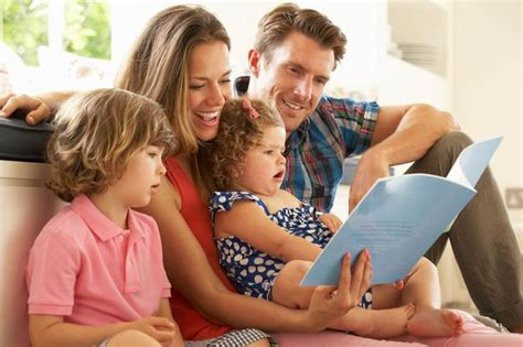 how to be a successful parent 59 most important 740 | Parents Sitting With Children Reading Story Indoors
