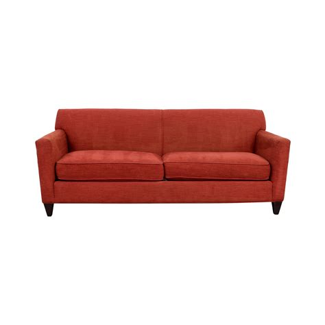 Hennessy Sofa 56 Off Crate Barrel Cardinal Red Hennessy