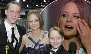 Jodie Foster poses with her rarely-seen sons after coming ...