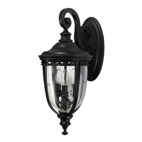 black ip44 exterior garden wall lantern in traditional
