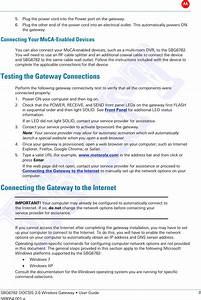 Arris Sbg6782ach Wireless Gateway User Manual