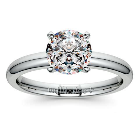comfort fit solitaire engagement ring in platinum 2mm