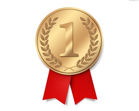 gold medal with ribbon psd psdgraphics