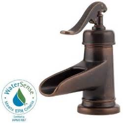 kitchen sink faucets at home depot pfister ashfield 4 in centerset single handle bathroom faucet in rustic bronze f 042 yp0u the