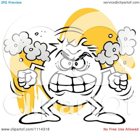 royalty free clipart clipart angry moodie character fuming royalty free