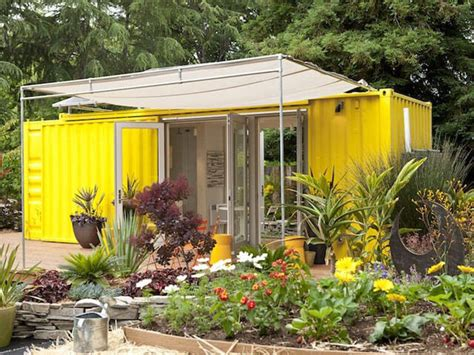 Garden Room Made Of Shipping Containers  Interior Design