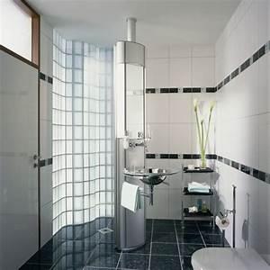 le pave de verre voir les meilleures idees With carrelage adhesif salle de bain avec pavé de verre led