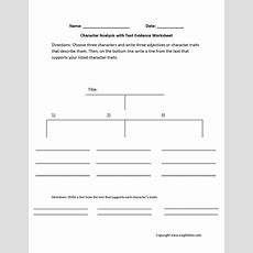 Englishlinxcom  Character Analysis Worksheets