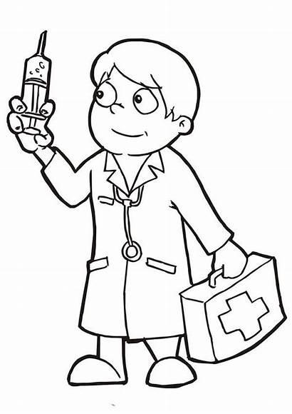 Doctor Coloring Sheets Doctors Clipart Preschool Clip