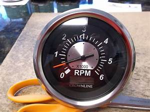 New Oem Crownline Boat Teleflex 6000 Rpm Tach Tachometer With Hour Meter 50061