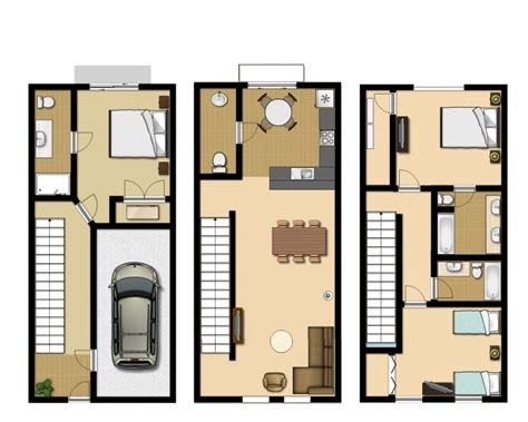 townhouse floor plans with garage 3 bedroom executive townhouse
