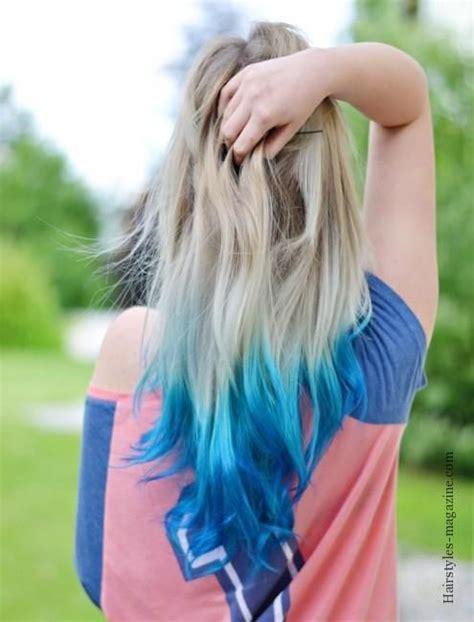 Blue Blonde Dipdyed Hair Hairstyles Magazine