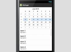 Android Studio Create a calendarView with listView for