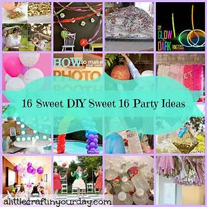 Sweet Party Day : 16 sweet diy sweet 16 party ideas a little craft in your day ~ Melissatoandfro.com Idées de Décoration