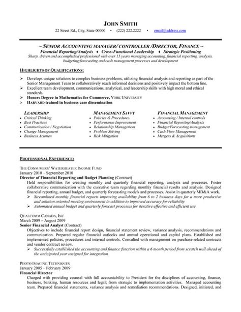 Resume Format For An Accountant by Accountant L Picture Accounting Manager Resume Templates