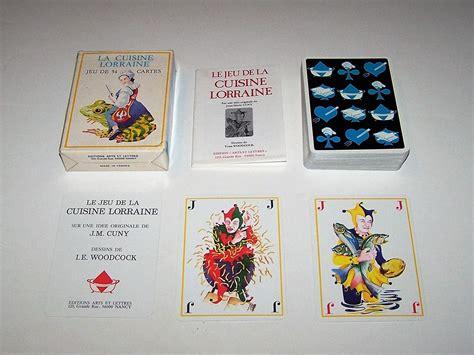 jeu de cuisin edition arts et lettres le jeu de la cuisine lorraine
