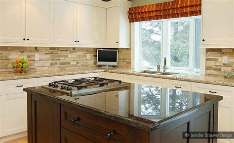 backsplash with white cabinets and granite travertine subway backsplash tile idea backsplash
