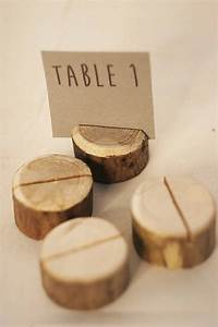20pcs Handmade Wood Place Card Holder Forest Wood Table ...