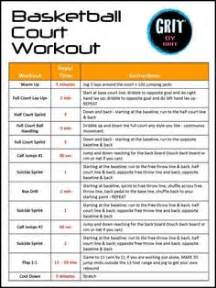 Basketball Court Workout from GRIT by Brit Oh reading