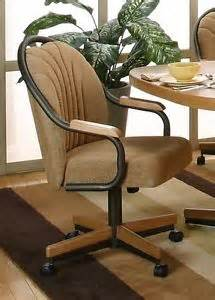 chromcraft like c188 casual rolling dining caster chair