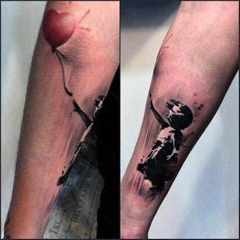 wonderful banksy tattoos  ideas gallery golfiancom