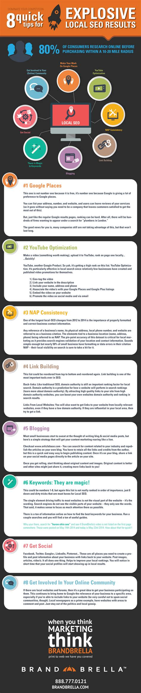 Seo Results by Weekly Infographic 8 Tips For Explosive Local Seo