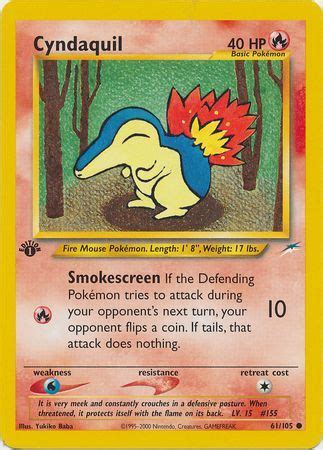 Check spelling or type a new query. Cyndaquil - Neo Destiny 1st Edition - Pokemon | TrollAndToad