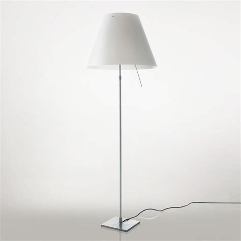 dimmable floor l luceplan costanza led floor l with dimmer telescopic