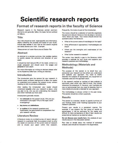 scientific paper template 7 sle scientific report templates sle templates